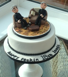 Novelty Father Ted Birthday Cake