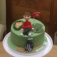 Golf theme birthday cake available in any size and flavor