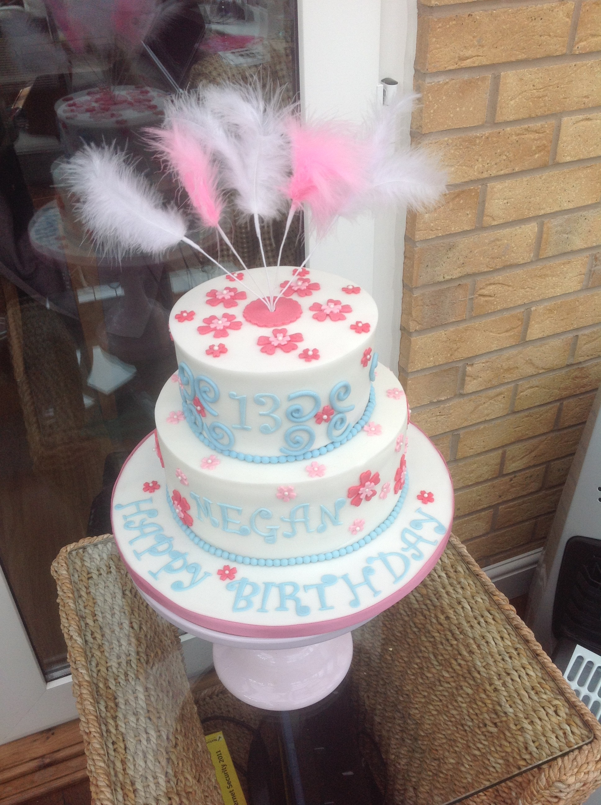 2 Tier Girly Birthday Cake Perfect Cakes
