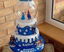 2 tier frozen theme cake
