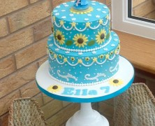 2 tier frozen theme cake.