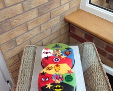 any number super hero cake